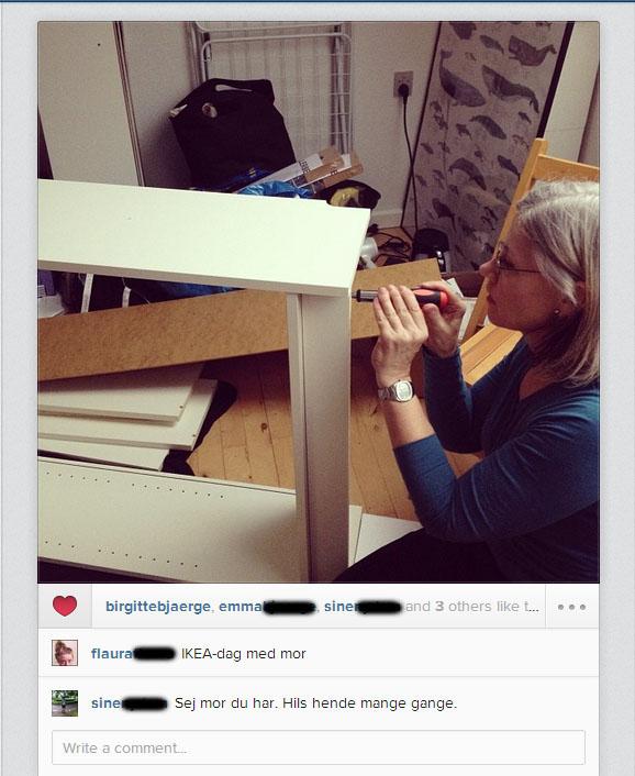 IKEA-dag med mor