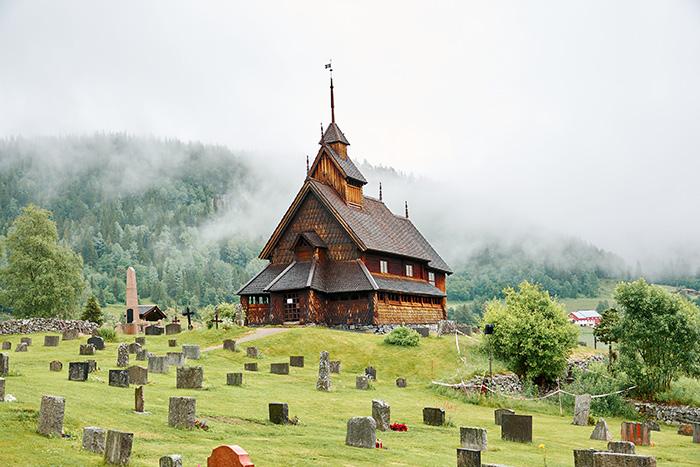 Stavkirken i Eidsborg. Norges næstmindste